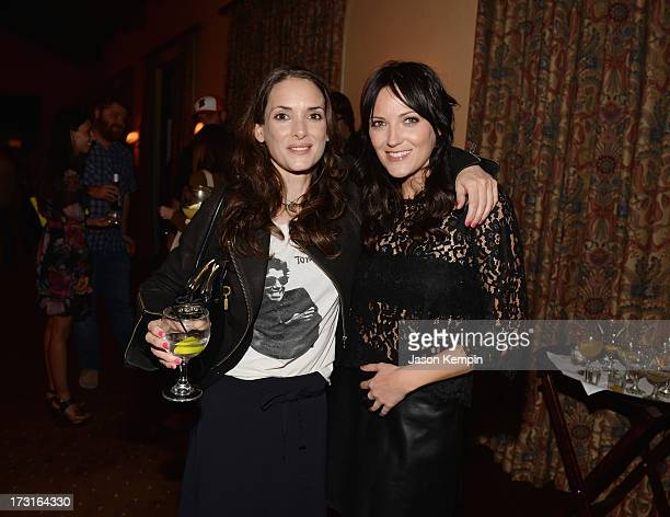 Winona Ryder and Jen Kirkman attend Comedy Central's 'Drunk History' Premiere Party at The Wilshire Ebell Theatre on July 8 2013 in Los Angeles...