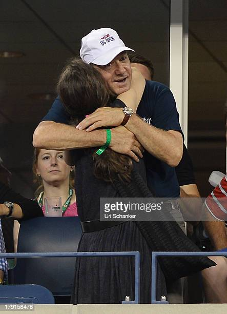 Winona Ryder and Kevin Spacey attend the 2013 US Open at USTA Billie Jean King National Tennis Center on August 31 2013 in New York City