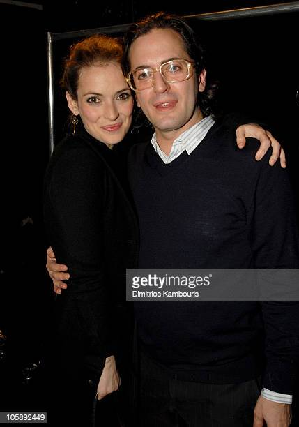 Winona Ryder and Marc Jacobs during Olympus Fashion Week Fall 2006 Marc Jacobs Front Row and Backstage at New York State Armory in New York City New...
