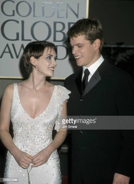 Winona Ryder and Matt Damon at the Beverly Hilton Hotel in Beverly Hills California
