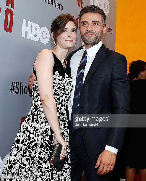 Winona Ryder and Oscar Isaac attend 'Show Me A Hero' New York Screening at The New York Times Center on August 11 2015 in New York City