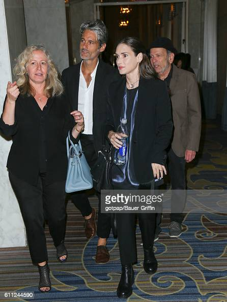 Winona Ryder and Scott Mackinlay Hahn are seen on September 28 2016 in Los Angeles California