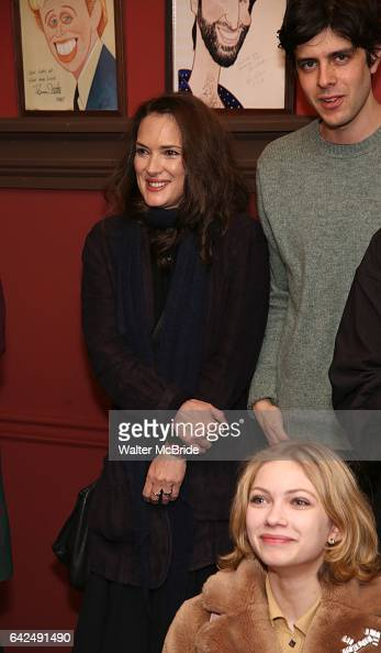 Winona Ryder and Tavi Gevinson attend the unveiling of the Kenneth Lonergan caricature at Sardi's on February 17 2017 in New York City