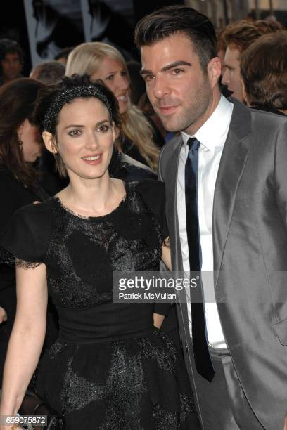 Winona Ryder and Zachary Quinto attend 'Star Trek' Premiere at Grauman' Chinese Theatre on April 30 2009 in Los Angeles CA