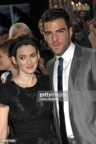 Winona Ryder and Zachary Quinto attend 'Star Trek' Premiere at Grauman's Chinese Theatre on April 30 2009 in Los Angeles CA
