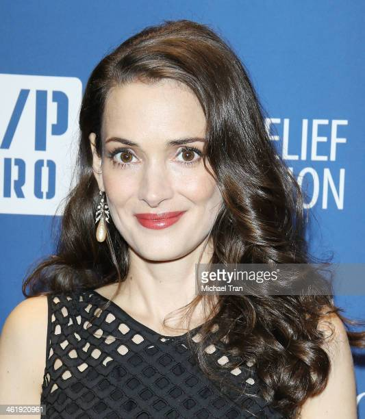 Winona Ryder arrives at the 3rd Annual Sean Penn Friends Help Haiti Home Gala benefiting J/P HRO presented By Giorgio Armani held at Montage Beverly...