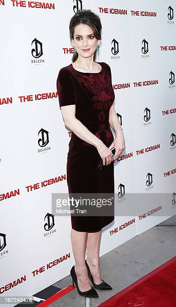 Winona Ryder arrives at the Los Angeles premiere of 'The Iceman' held at ArcLight Hollywood on April 22 2013 in Hollywood California