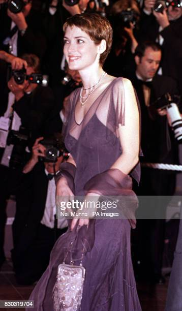 Winona Ryder arrives for the premiere of Terry Gilliam's new film 'Fear And Loathing in Las Vegas' in Cannes France during the 51st Cannes Film...