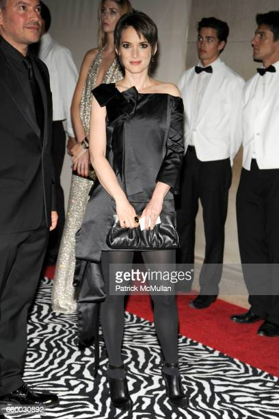 Winona Ryder attends THE COSTUME INSTITUTE GALA 'The Model As Muse' with Honorary Chair MARC JACOBS INSIDE at The Metropolitan Museum of Art on May 4...
