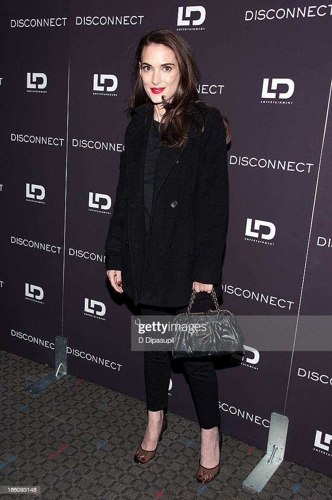 Winona Ryder attends the 'Disconnect' New York Special Screening at SVA Theater on April 8, 2013 in New York City.