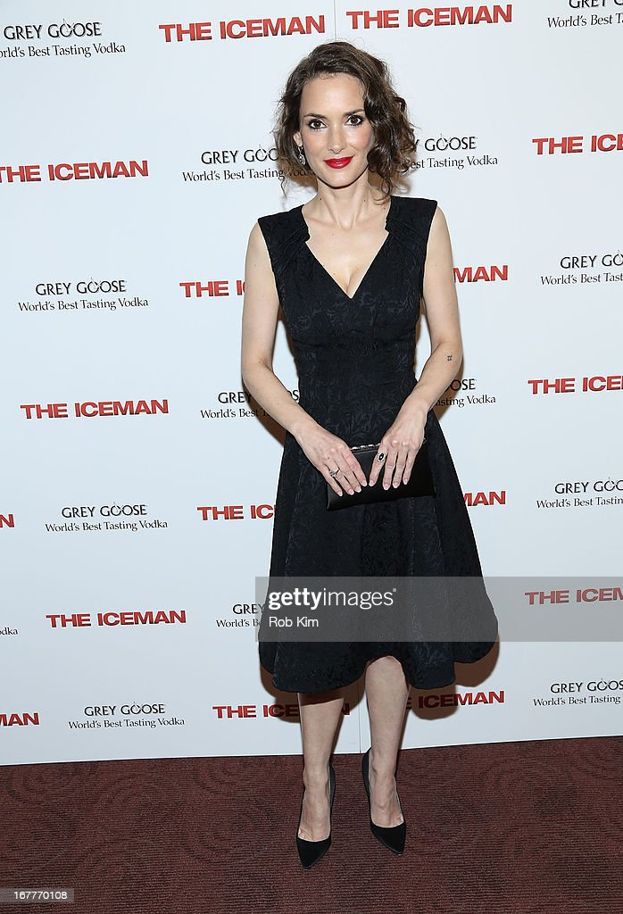 Winona Ryder attends the 'The Iceman' screening presented by Millennium Entertainment and GREY GOOSE at Chelsea Clearview Cinemas on April 29 2013 in...