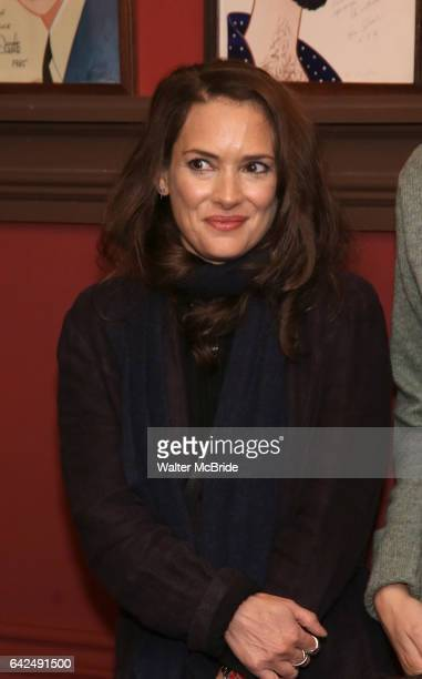 Winona Ryder attends the unveiling of the Kenneth Lonergan caricature at Sardi's on February 17 2017 in New York City