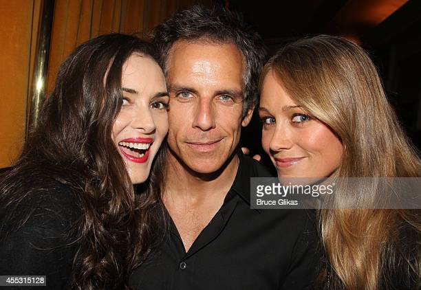 Winona Ryder Ben Stiller and Christine Taylor pose at The Opening Night arrivals of 'This Is Our Youth' on Broadway at The Cort Theatre on September...