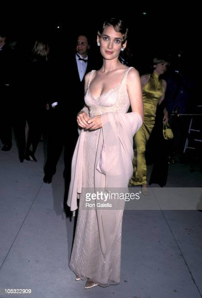 Winona Ryder during 1996 Vanity Fair Oscar Party Arrivals at Morton's Restaurant in West Hollywood California United States