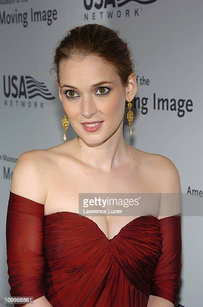 Winona Ryder during 19th Annual American Museum of the Moving Image Benefit Salute to Richard Gere Arrivals at WaldorfAstoria in New York City New...
