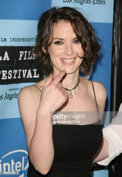 Winona Ryder during 2006 Los Angeles Film Festival 'A Scanner Darkly' Screening Arrivals at John Anson Ford Amphitheatre in Los Angeles California...