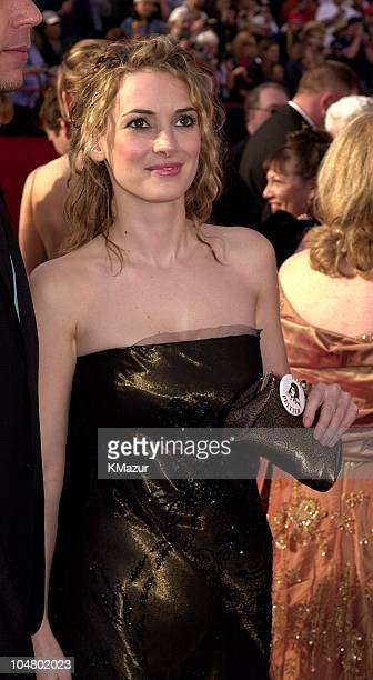 Winona Ryder during The 73rd Annual Academy Awards Arrivals at Shrine Auditorium in Los Angeles California United States