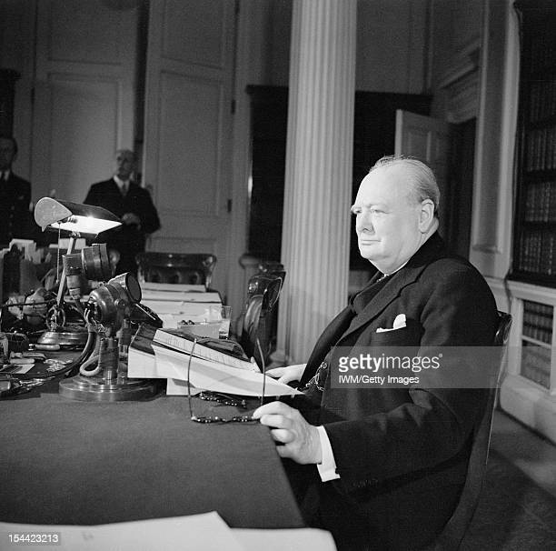 Winston Churchill As Prime Minister 19401945 Home Front Churchill makes the victory broadcast on BBC radio 8 May 1945