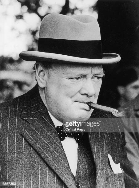 Winston Churchill British Statesman and Prime Minister for two terms