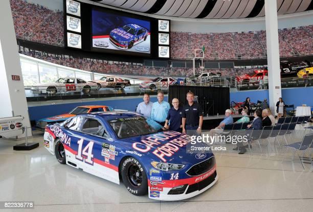 Winston Kelley NASCAR Hall of Fame executive director Kerry Tharp Darlington Raceway President Mark Martin NASCAR Hall of Famer and Clint Bowyer...