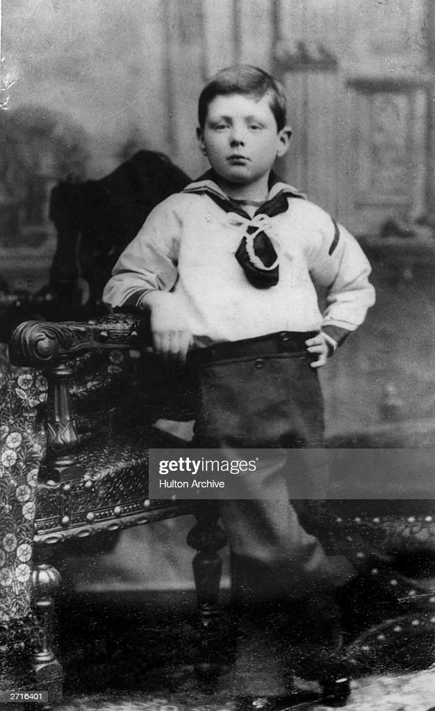 Winston Leonard Spencer Churchill (1874 - 1965) aged 7, later British statesman and prime minister.