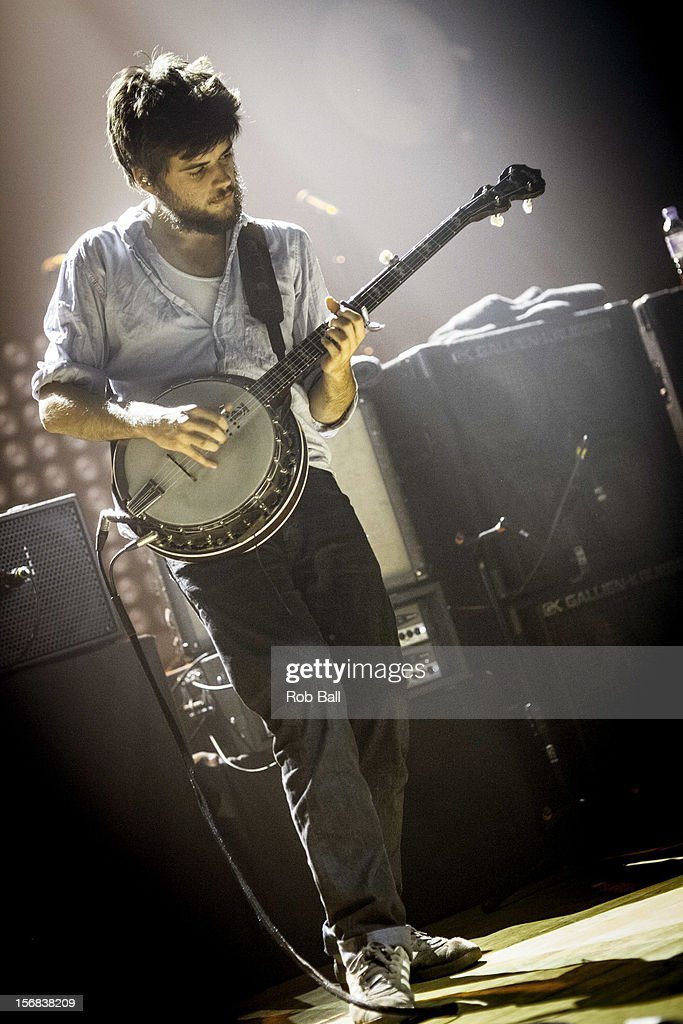 <a gi-track='captionPersonalityLinkClicked' href=/galleries/search?phrase=Winston+Marshall&family=editorial&specificpeople=3124664 ng-click='$event.stopPropagation()'>Winston Marshall</a> Mumford & Sons performs at Portsmouth Guildhall on November 22, 2012 in Portsmouth, England.
