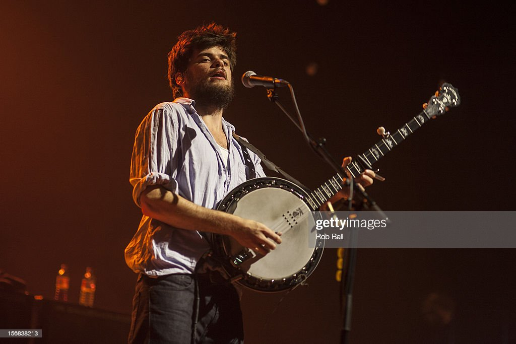 Winston Marshall Mumford & Sons performs at Portsmouth Guildhall on November 22, 2012 in Portsmouth, England.