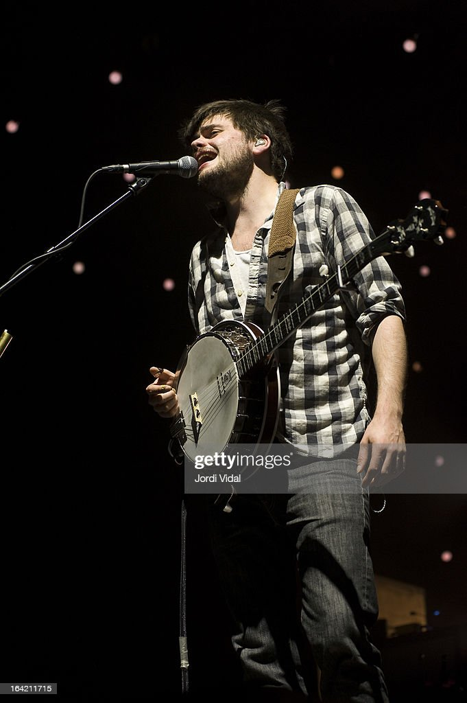 Winston Marshall of Mumford and Sons performs on stage in concert at Razzmatazz on March 20, 2013 in Barcelona, Spain.