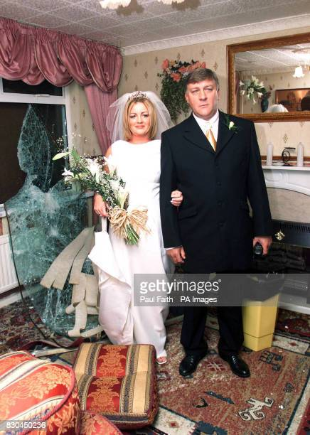 Winston Rea inside the living room of his wrecked home in the Shankill area of Belfast with his daughter Pauline 21 The 49 year old prominent...