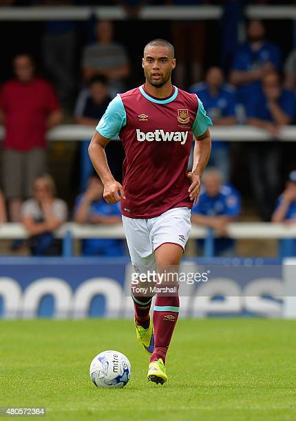 Winston Reid of West Ham United during the Pre Season Friendly match between Peterborough United and West Ham United at London Road Stadium on July...