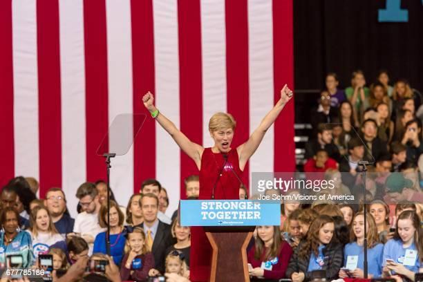 WinstonSalem NC October 27 Democratic Us Senate Candidate Deborah Ross North Carolina Introduces Hillary Clinton And Michelle Obama At A Presidential...