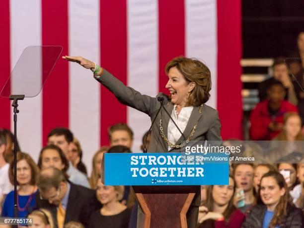 WinstonSalem NC October 27 Democratic Us Senator Janet Kay Hagan North Carolina Introduces Hillary Clinton And Michelle Obama At A Presidential...
