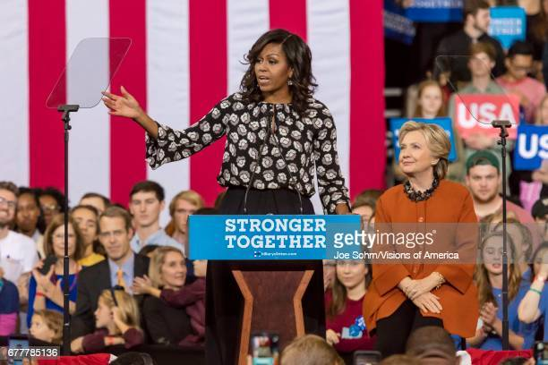 WinstonSalem NC October 27 First Lady Michelle Obama Introduces Democratic Presidential Candidate Hillary Clinton At A Presidential Campaign Event