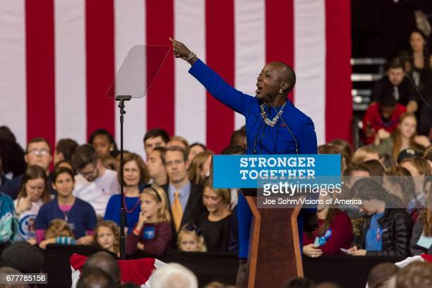 WinstonSalem NC October 27 North Carolina Congress Member Introduces Hillary Clinton Campaign Rally Featuring Us First Lady Michelle Obama