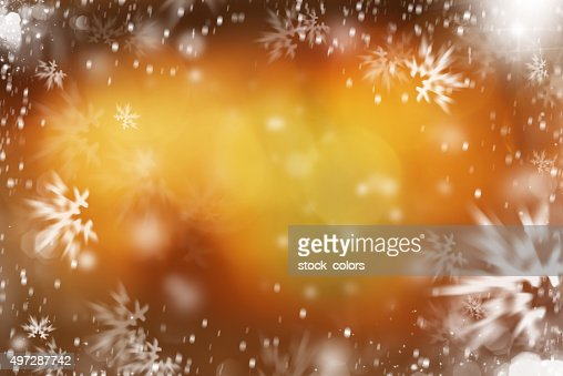 winter and snowflakes