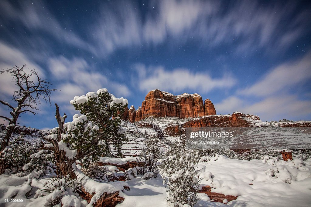 Winter at Cathedral Rock : Stock Photo