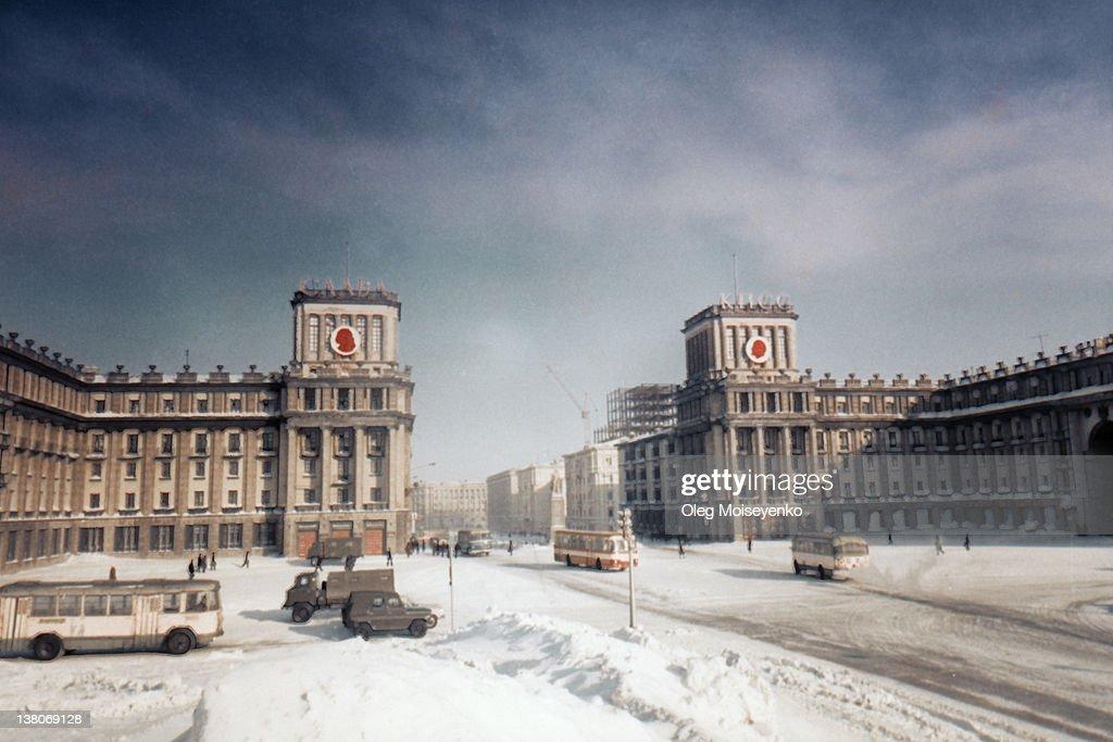 Winter at Norilsk : Stock Photo