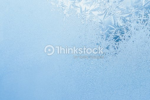 Winter background, frost on window : Stock Photo