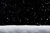 Winter background. falling snow isolated on black background with copy space