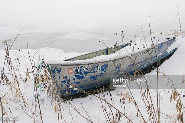 Winter Beached Boat Horizontal