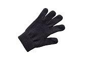 Winter black gloves on white background