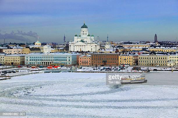 Winter cityscape, Helsinki,Finland