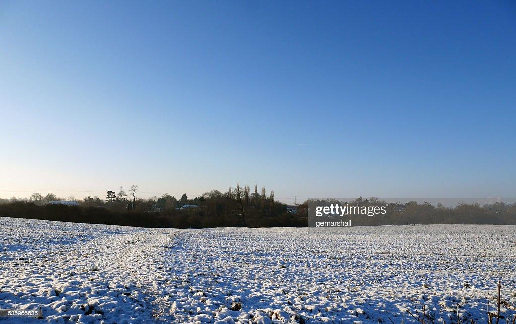 Winter Country Landscape Scene : Stock Photo