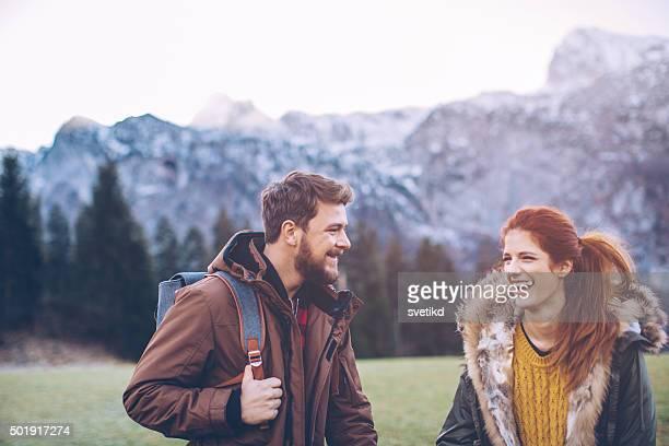 Winter Tag auf die Berge