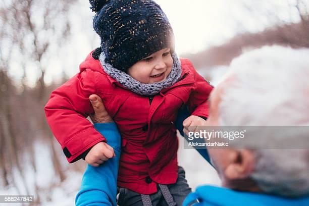 Winter days with grandpa