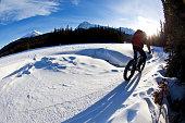 Winter Fat Bike Rider