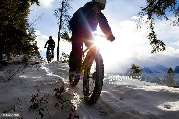 Winter Fat Bike Riders