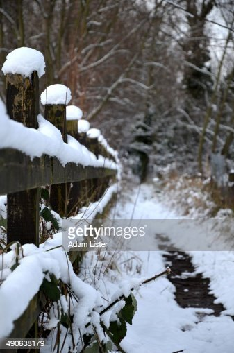 Winter Fence : Stock Photo
