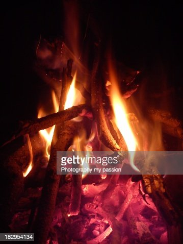 Winter fire : Stock Photo