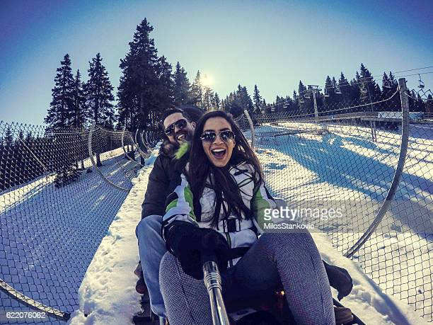 Winter fun on bobsled